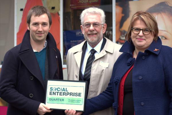Charlie Wigglesworth - SEUK; Clive Hurst - 'Architect' of Social Enterprise Places; Sarah Crawley - iSE CIC