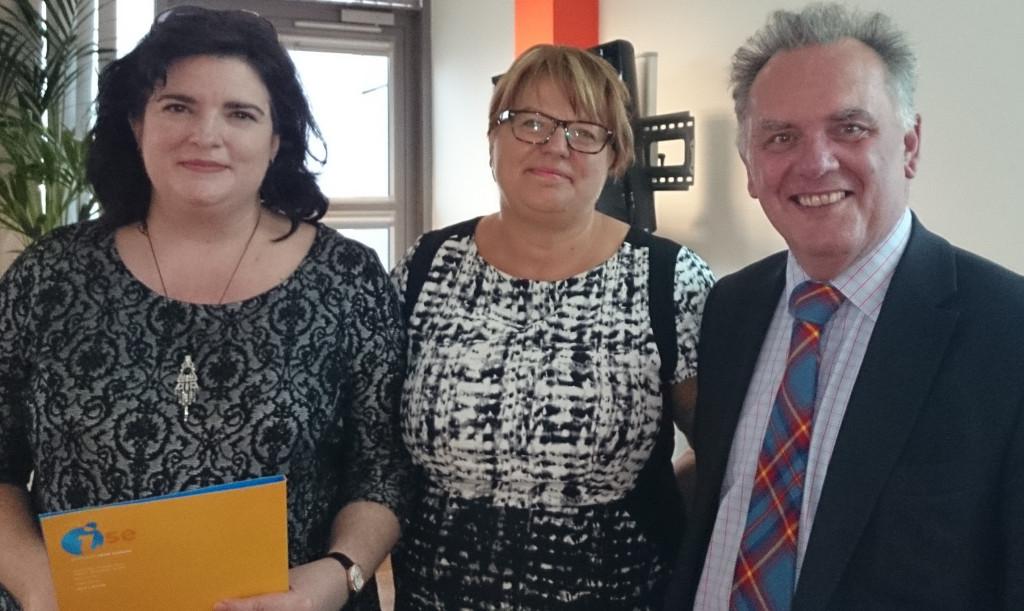 Karen Anderson Sarah Crawley and Sir Albert Bore at Social Investment Network Launch