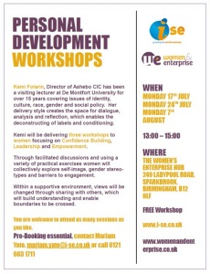 WEH Confidence Workshop July 2017