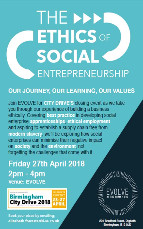 Ethics of Social Entrepreneurship