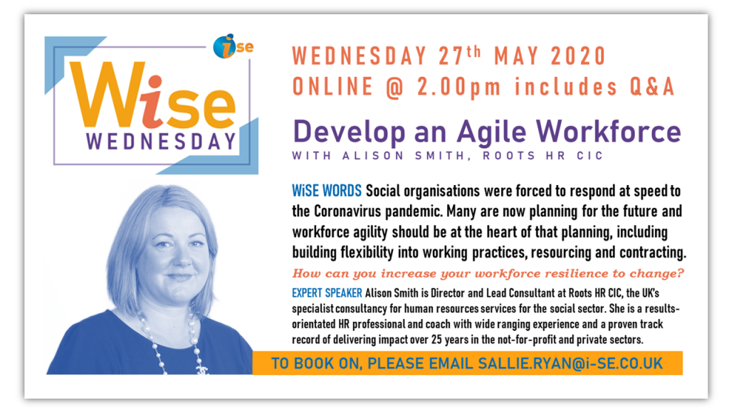 iSE WiSE Wednesday AGILE WORKFORCE 270520 border