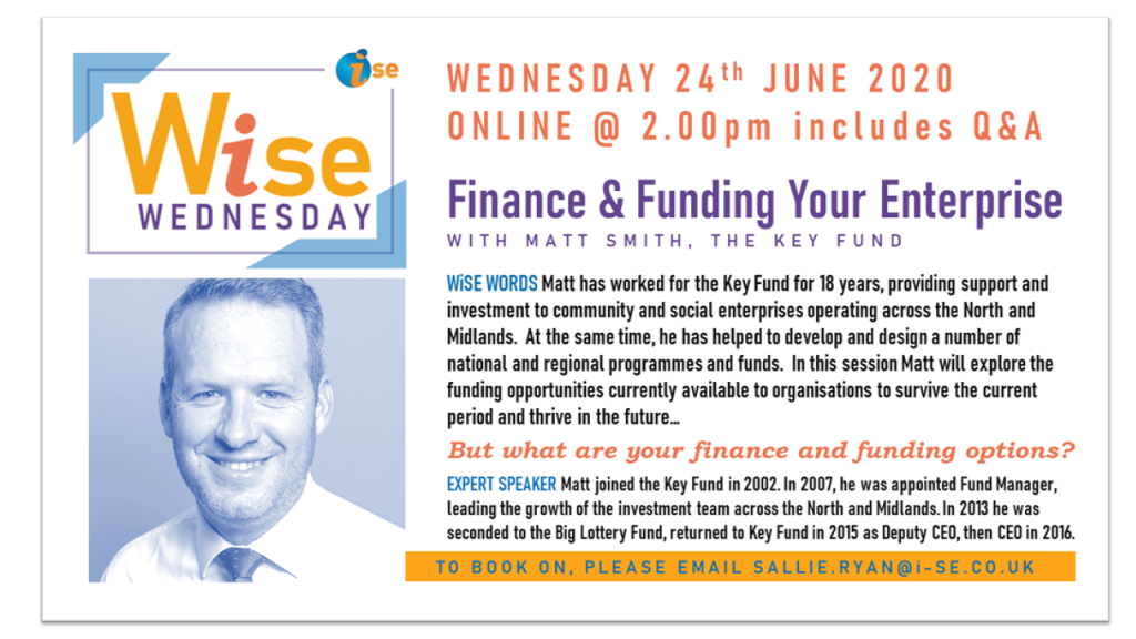 iSE WiSE Wednesday FINANCE FUNDING YOUR ENTERPRISE 240620 border