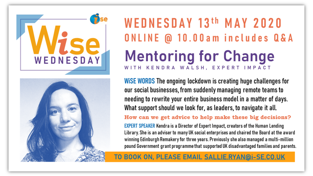 iSE WiSE Wednesday MENTORING FOR CHANGE 130520 with border